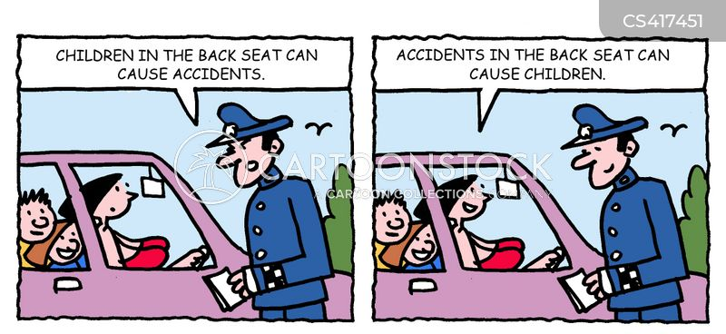 back seat cartoon