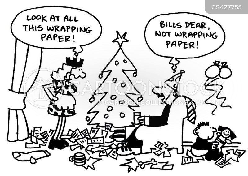 wrapping paper cartoon