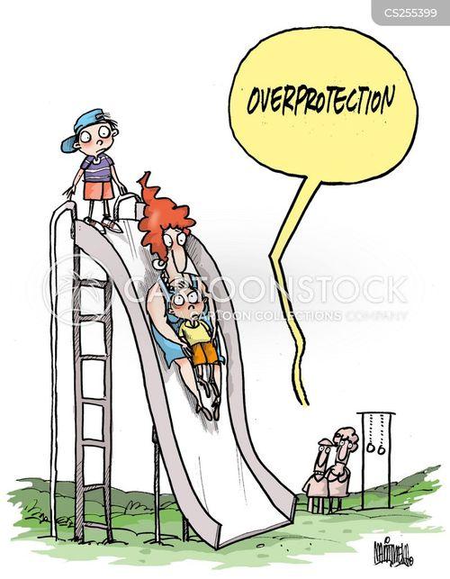 protective parent cartoon