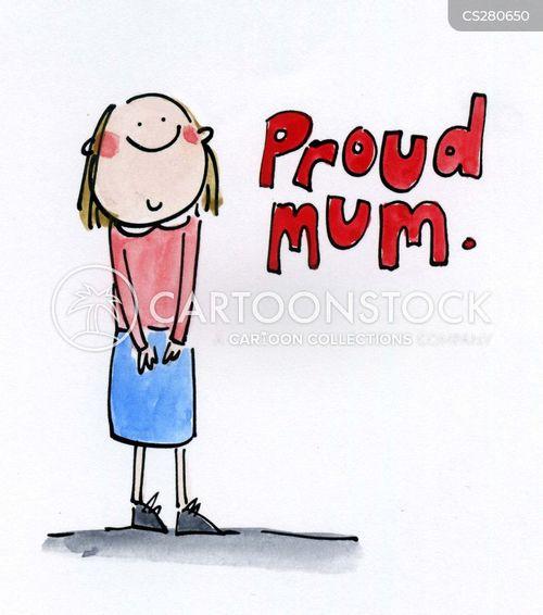 proud mums cartoon