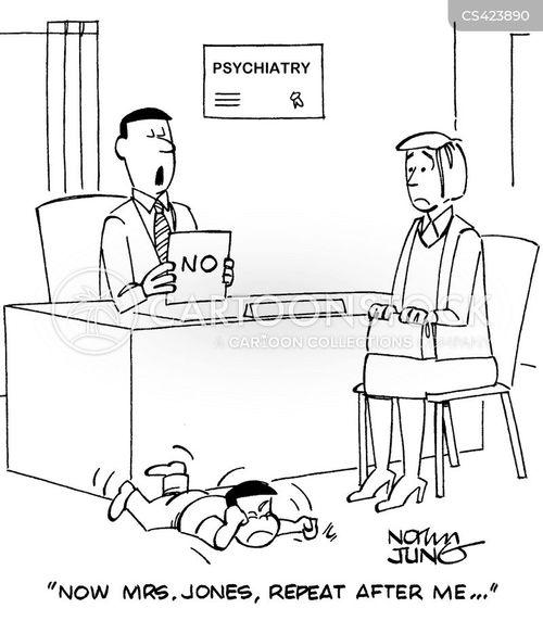 child psychiatrists cartoon