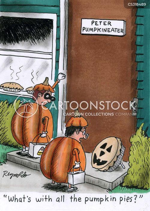 pumpkin pies cartoon