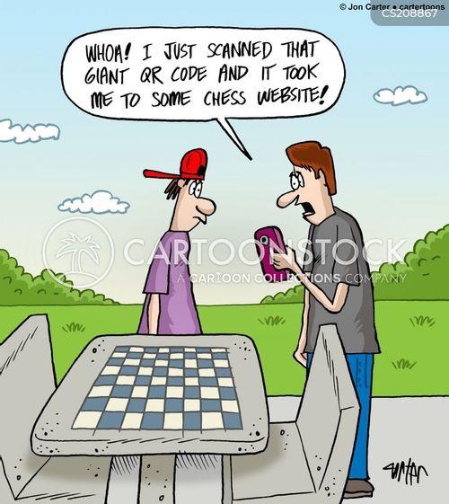 chess players cartoon