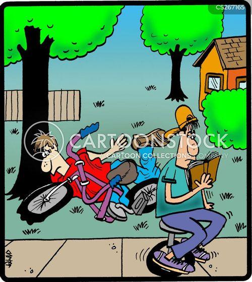 unicycles cartoon