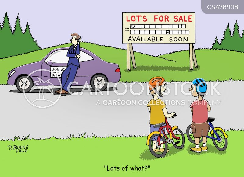 land sale cartoon