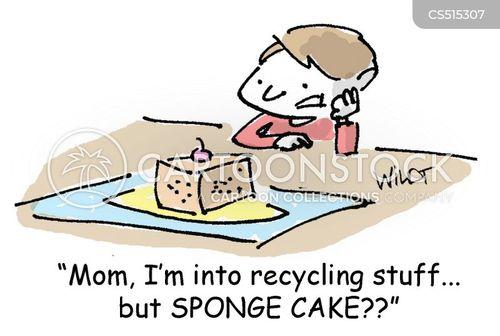 sponge cake cartoon