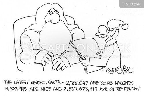 naughty or nice list cartoon
