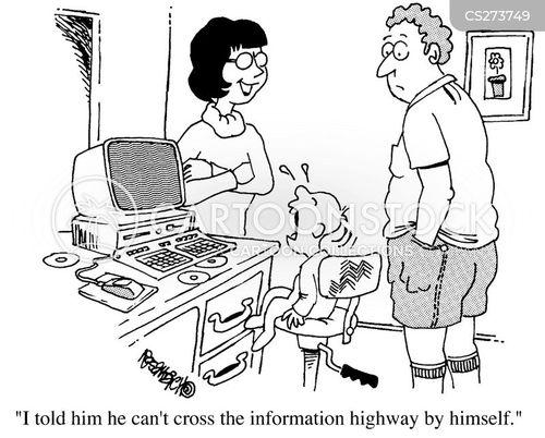 information highway cartoon