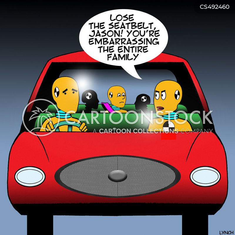 road-safety cartoon