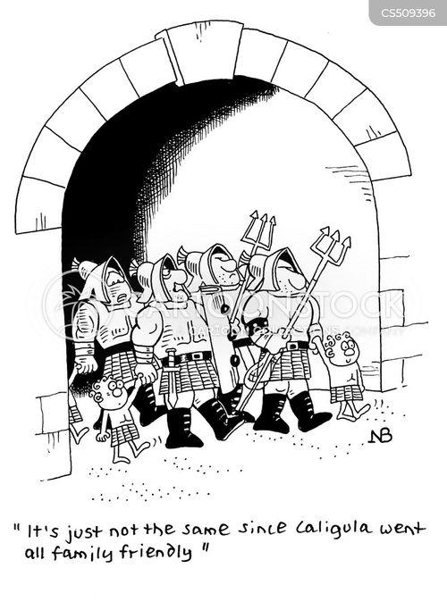 roman games cartoon