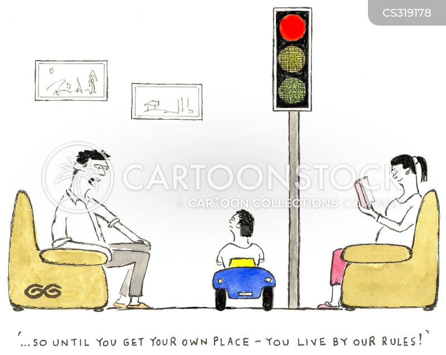 traffic calming cartoon
