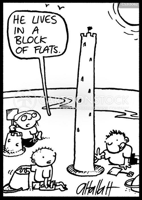 block of flats cartoon