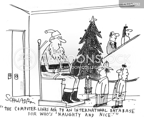 father xmas cartoon