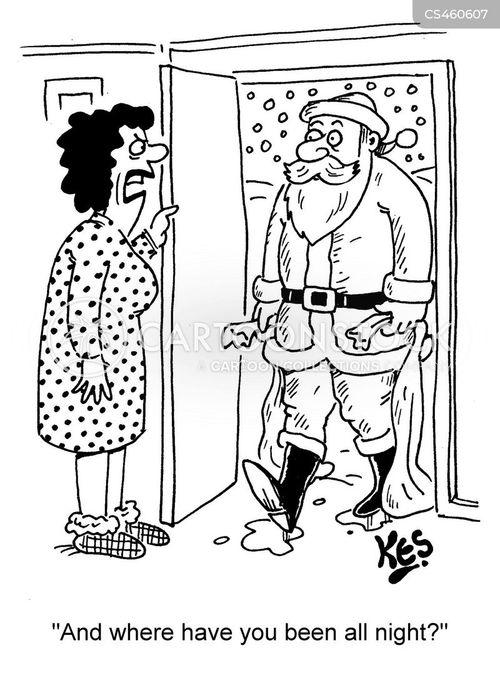 mrs claus cartoon