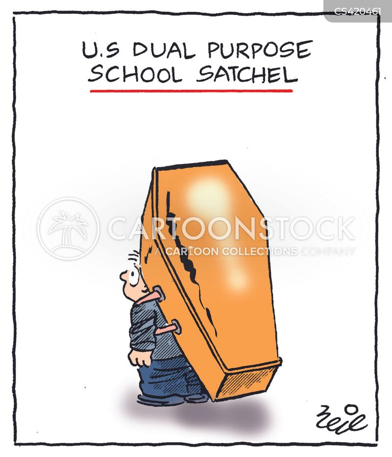 school bags cartoon