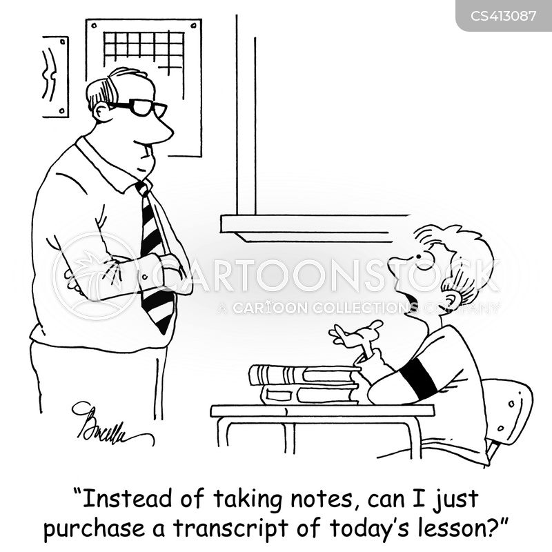 note-taker cartoon