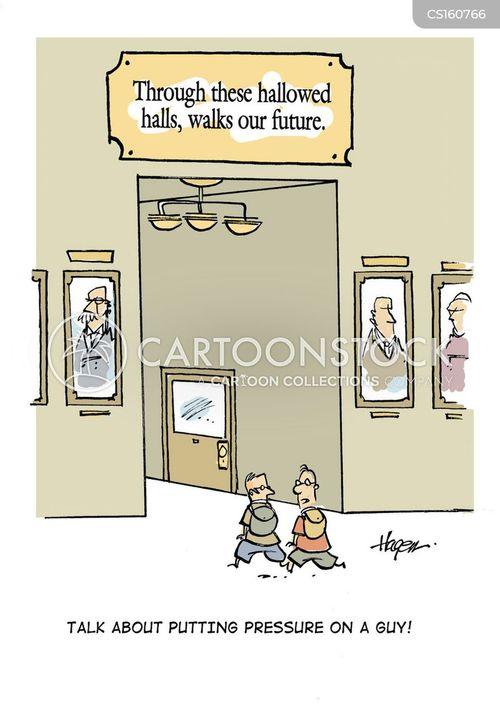 hall cartoon