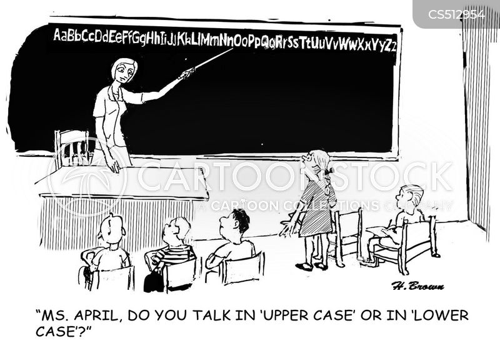 lower case cartoon