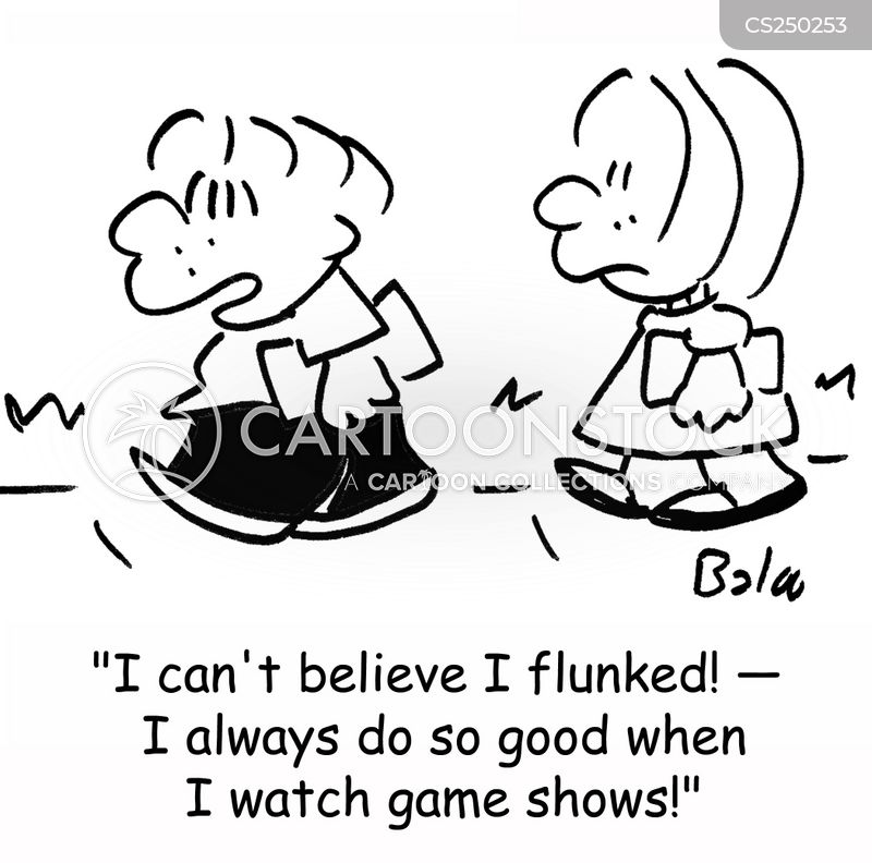 flunked cartoon