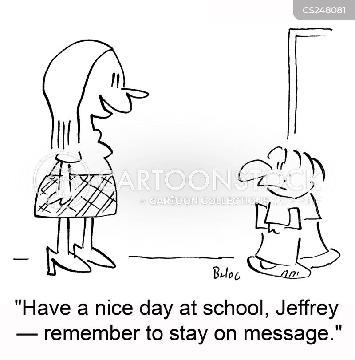 on message cartoon