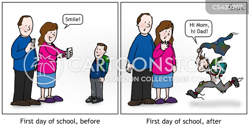 first days cartoon