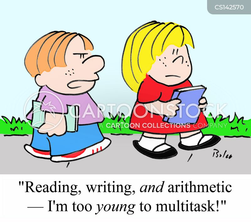 writing skills cartoon