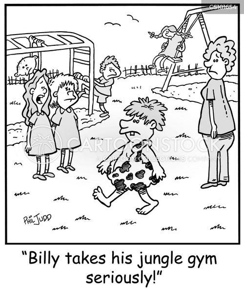 jungle gyms cartoon