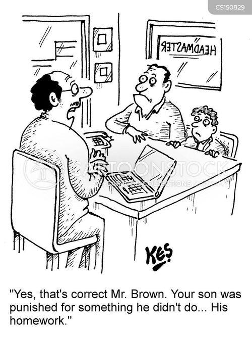 teacher-parent conference cartoon