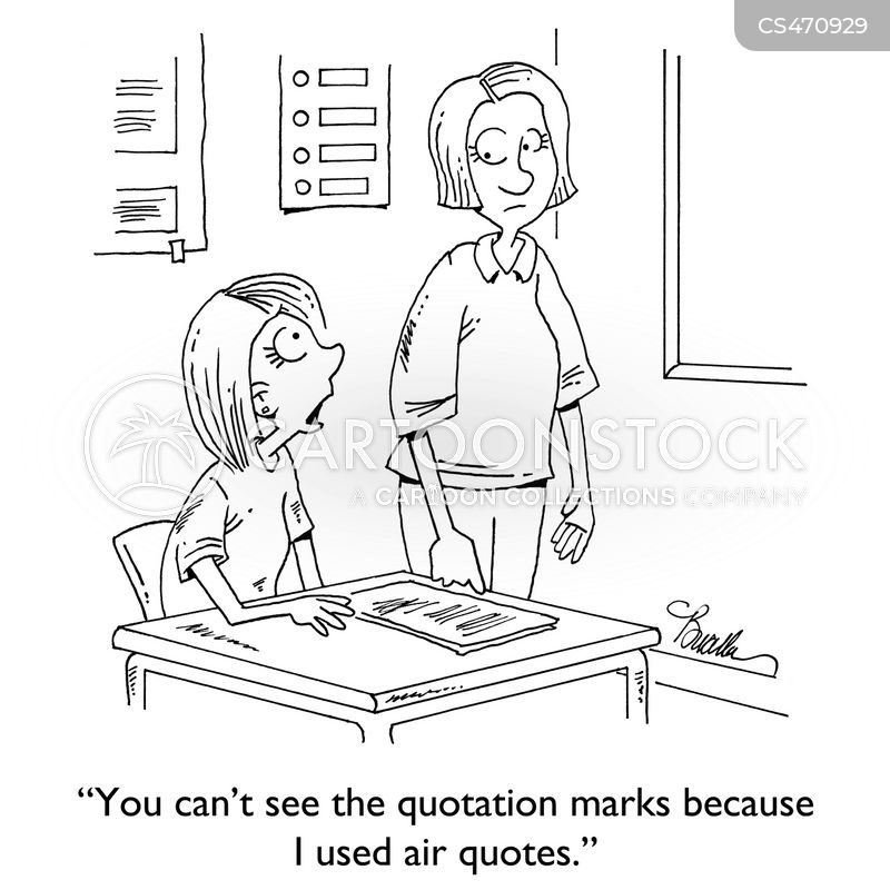 punctuation marks cartoon