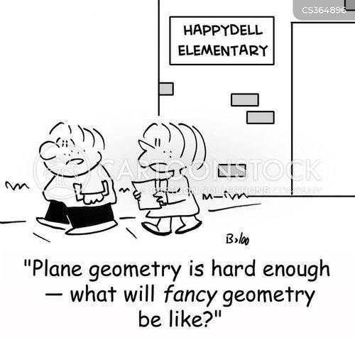 fancy geometry cartoon
