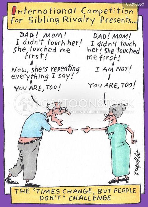 sibling rivalries cartoon