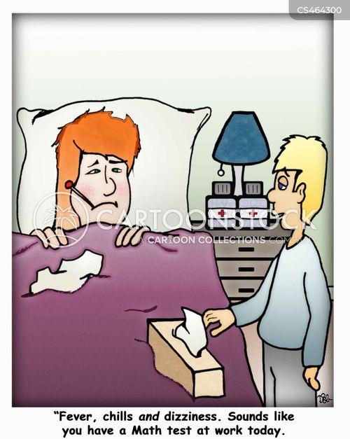 pulling a sickie cartoon