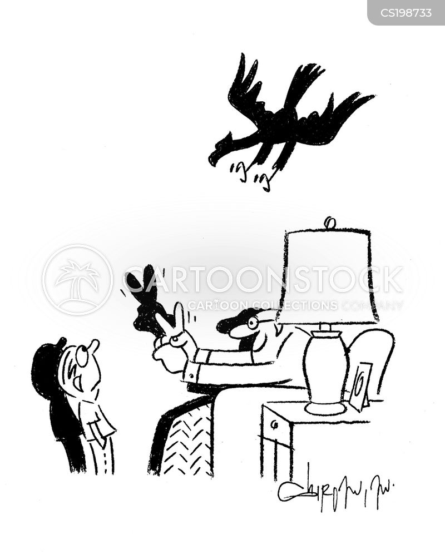 swooping cartoon