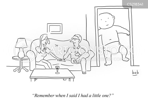 single mom cartoon