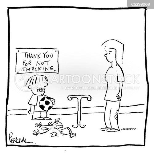smacking cartoon