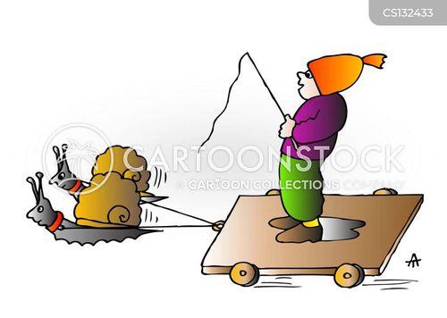 snail pace cartoon