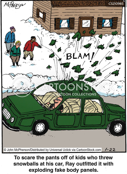 thrower cartoon
