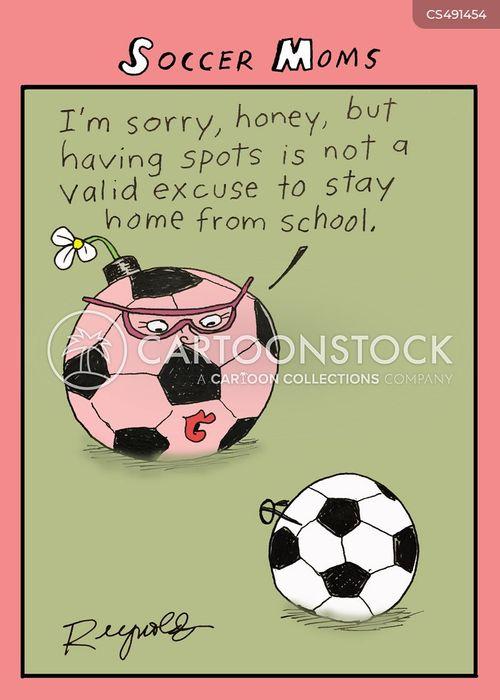 soccer mum cartoon