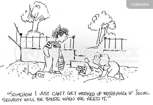 social security payment cartoon