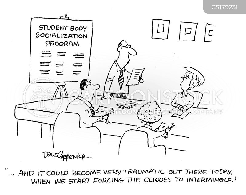 socializes cartoon