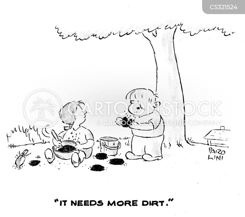 Eating Dirt Cartoons And Comics Funny Pictures From Cartoonstock