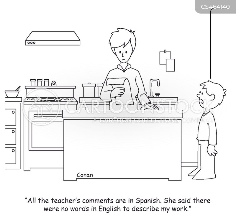 spanish classes cartoon