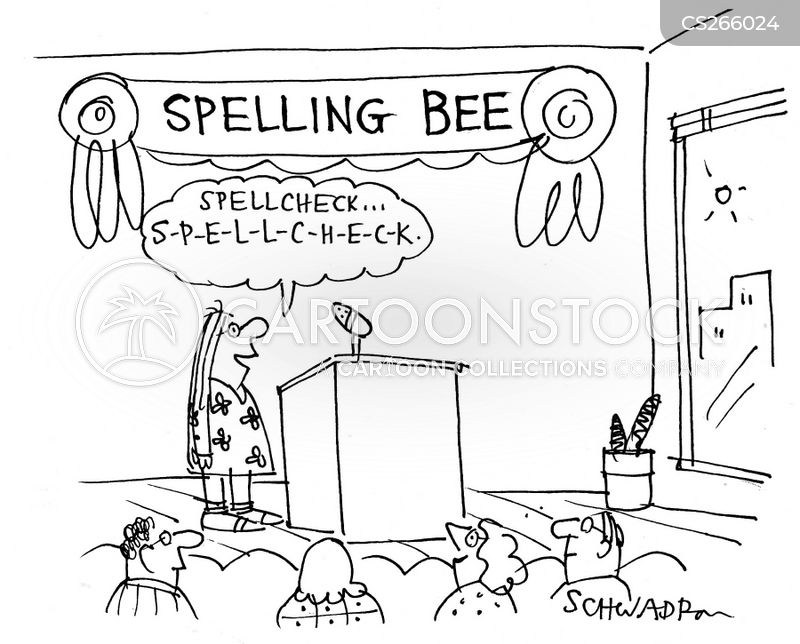 spellchecker cartoon