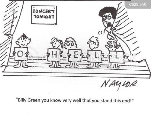 school plays cartoon