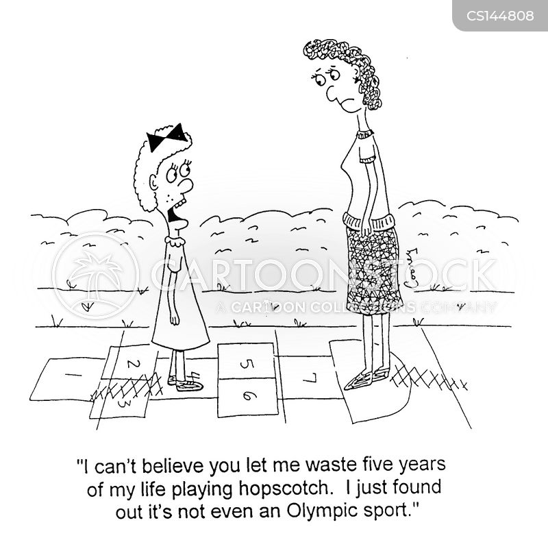 wasted time cartoon