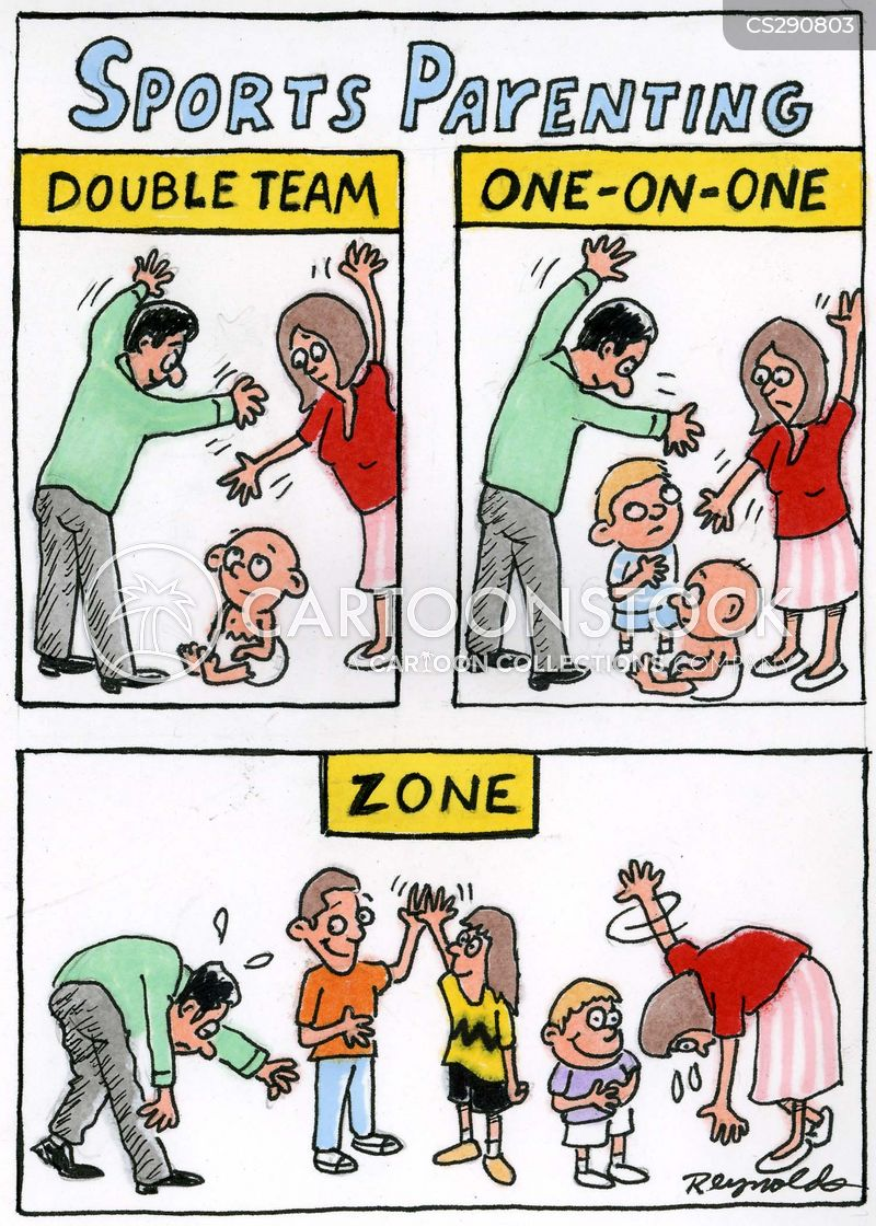 one-on-one cartoon