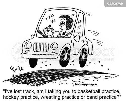 chauffeuring cartoon