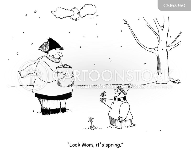 signs of spring cartoon