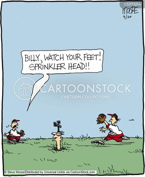 sprinkling cartoon