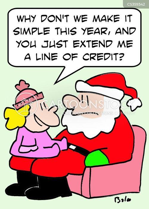 line of credit cartoon
